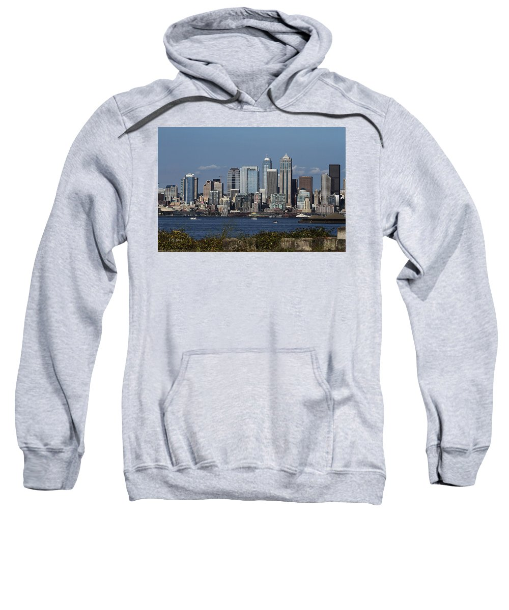 Today In Seattle Sweatshirt featuring the photograph Today In Seattle by Tom Janca
