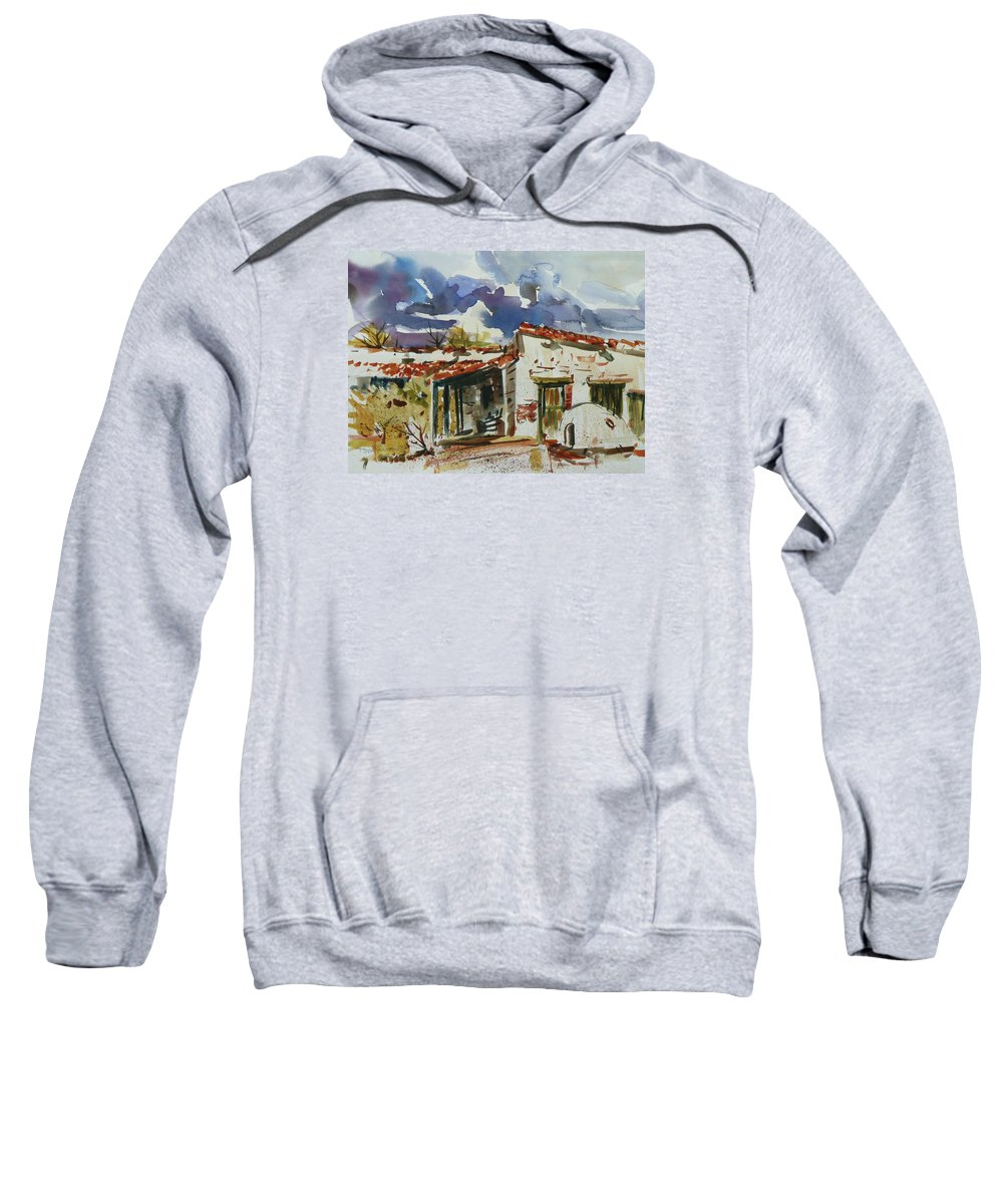 Landscape Sweatshirt featuring the painting Tom Sparacino - Our Art Instructor by Xueling Zou