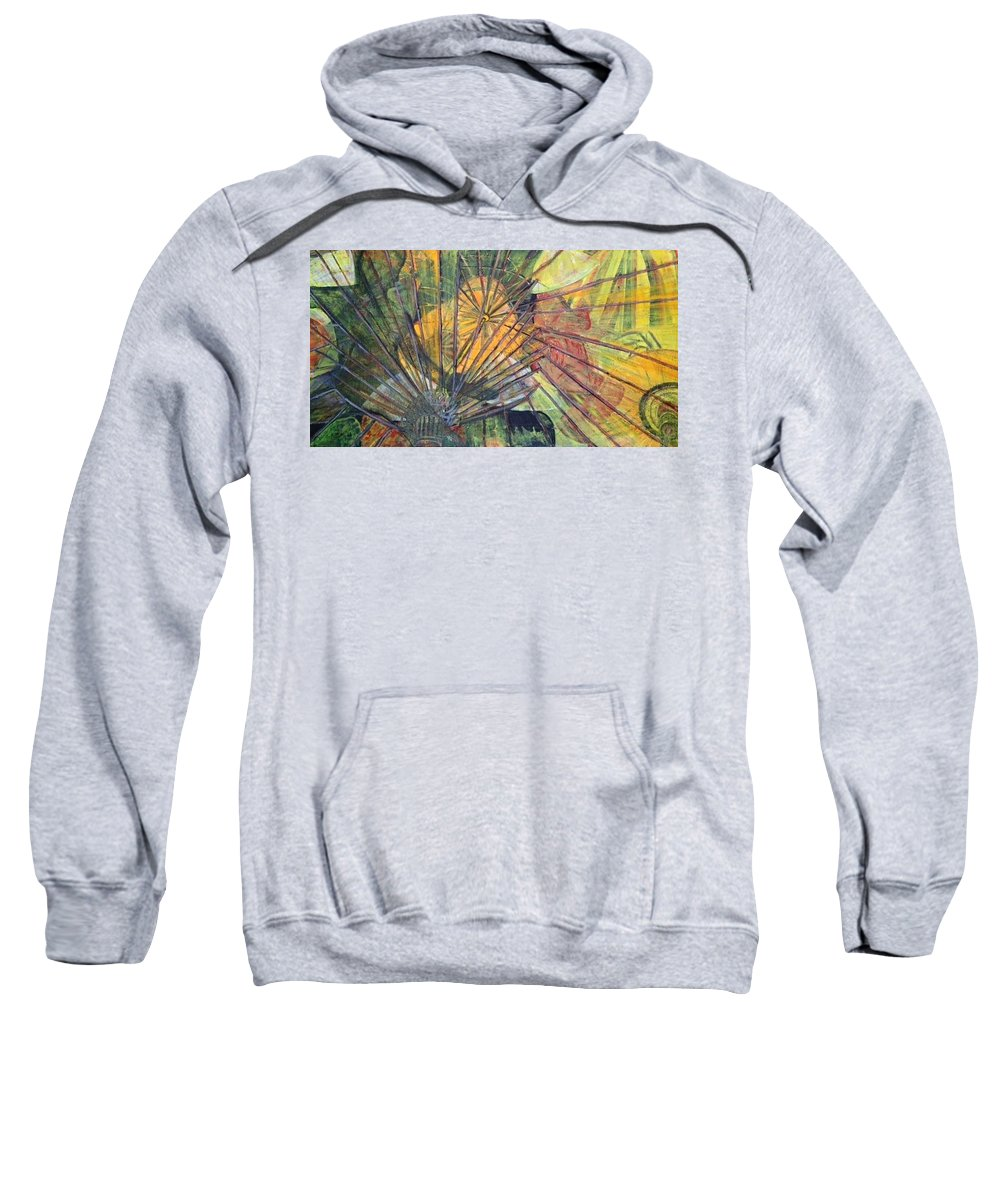 Village In China Sweatshirt featuring the painting Tongli Town by Peggy Blood