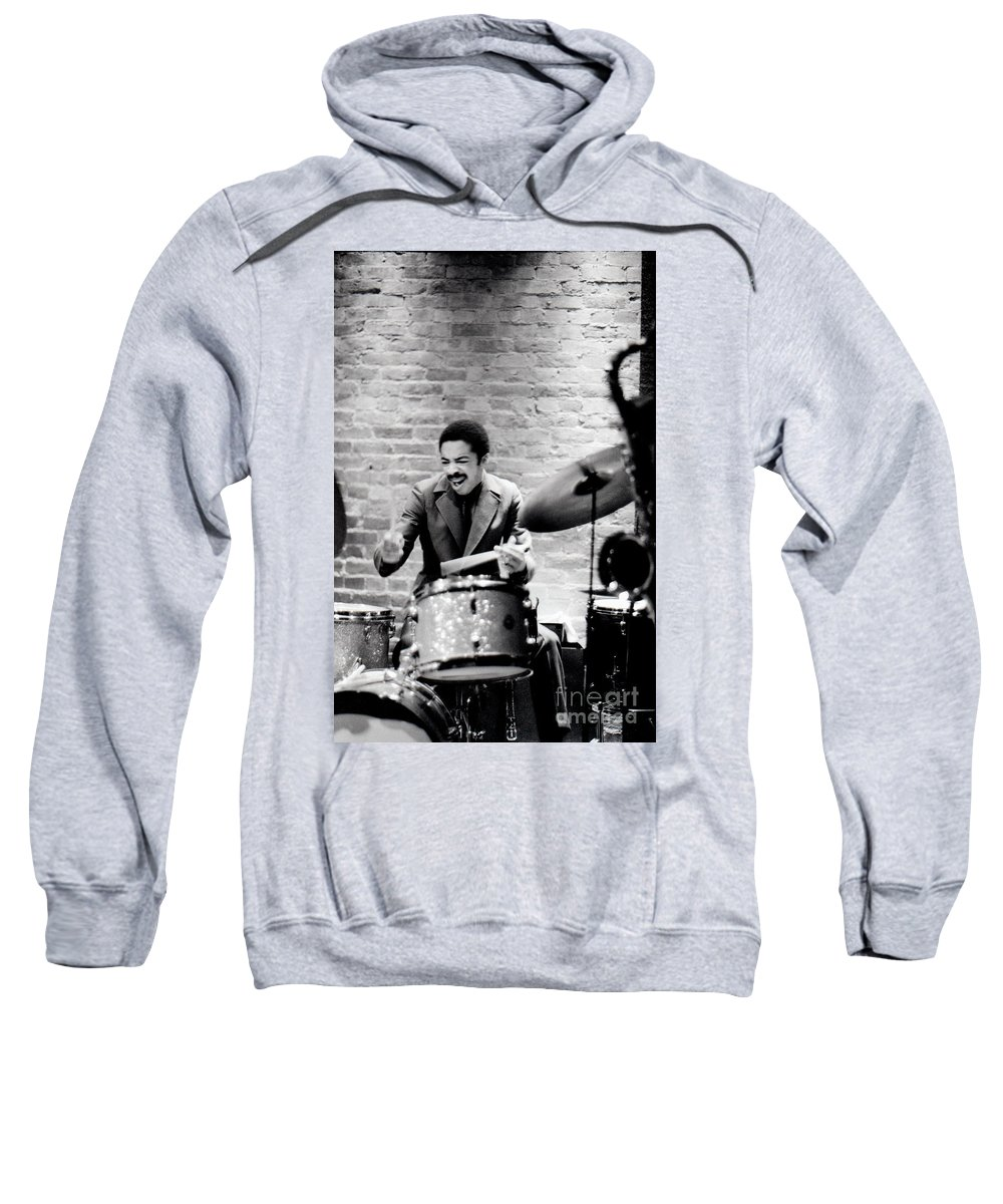 Drummer Sweatshirt featuring the photograph Tony Williams At The Penthouse by Dave Coleman