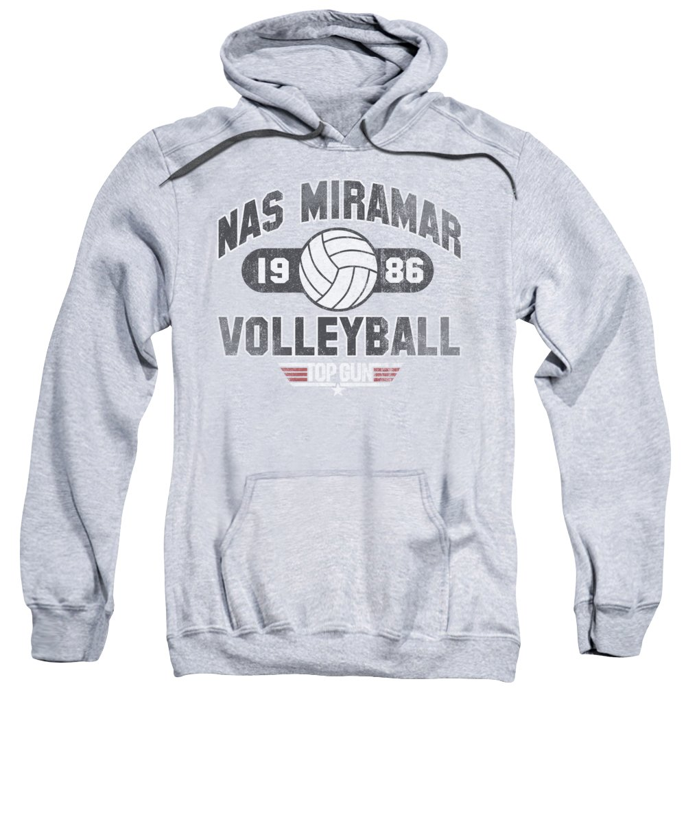 Top Gun Sweatshirt featuring the digital art Top Gun - Nas Miramar Volleyball by Brand A