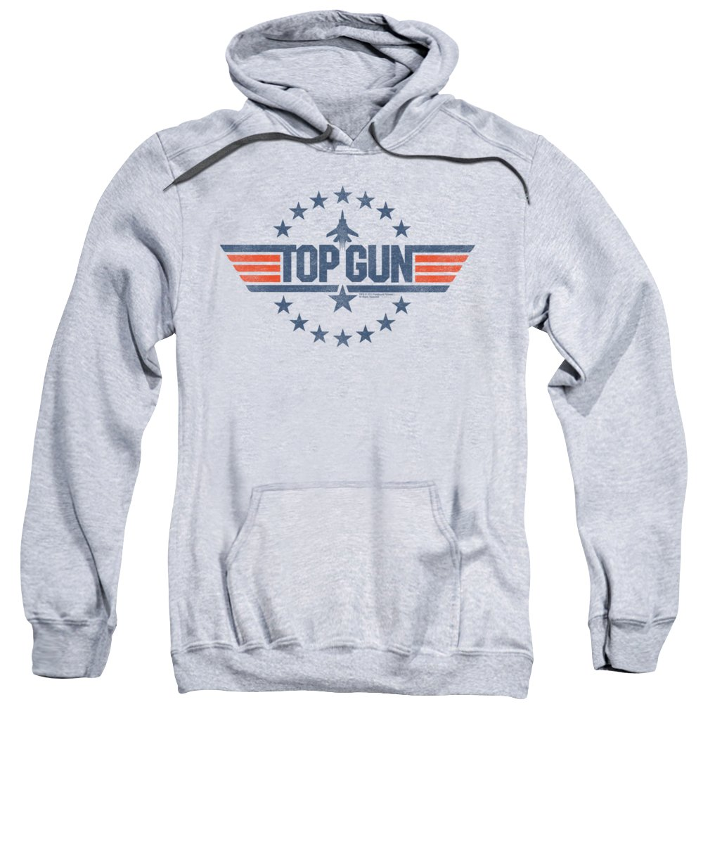 Top Gun Sweatshirt featuring the digital art Top Gun - Star Logo by Brand A