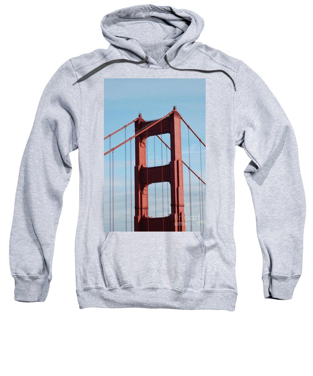 Golden Sweatshirt featuring the photograph Top Of Golden Gate Bridge by Kathleen Struckle