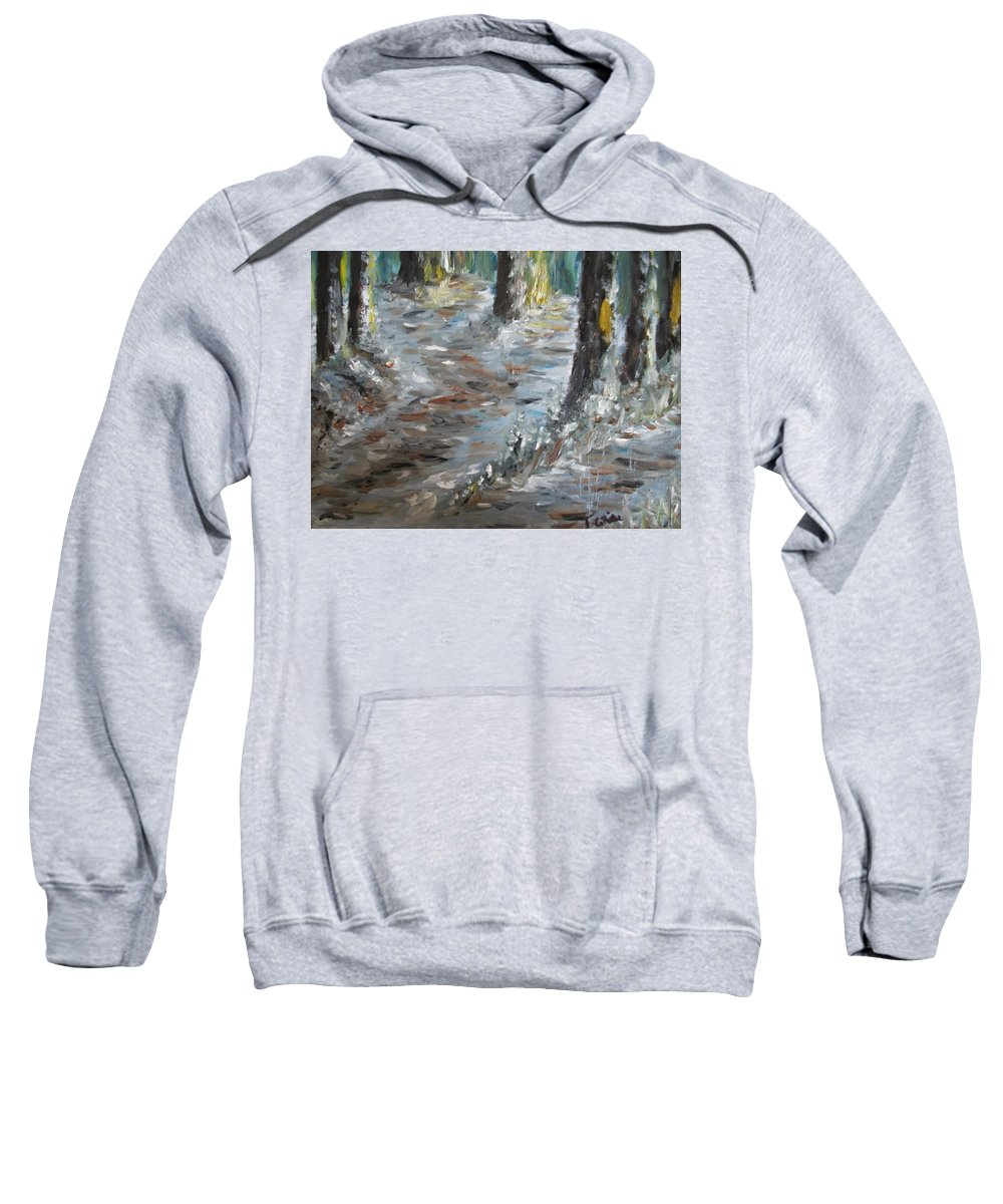 Teresa White Sweatshirt featuring the painting Touch Of Christmas by Teresa White
