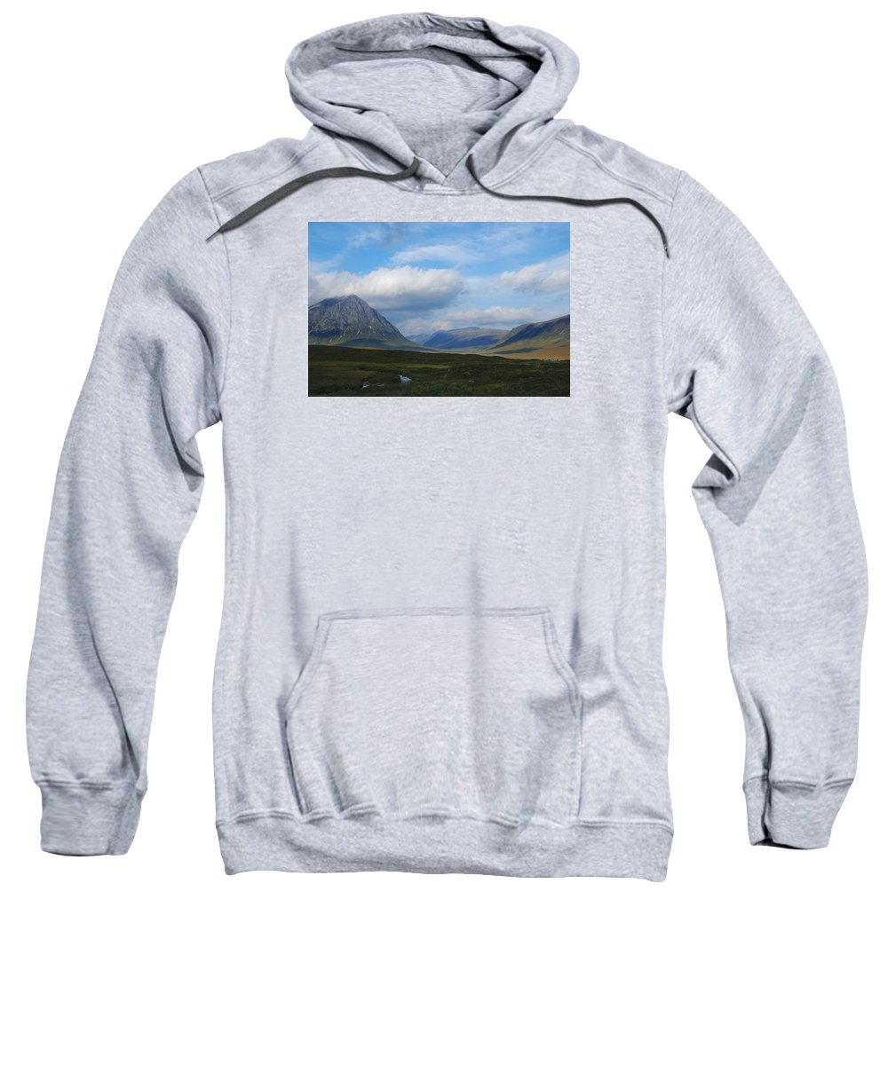Scotland Sweatshirt featuring the photograph Touching Clouds by Wendy Wilton