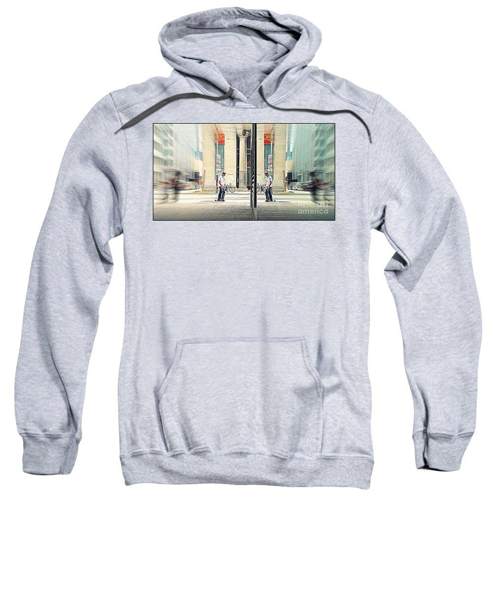 Toward Sweatshirt featuring the photograph Towards Himself by Valentino Visentini