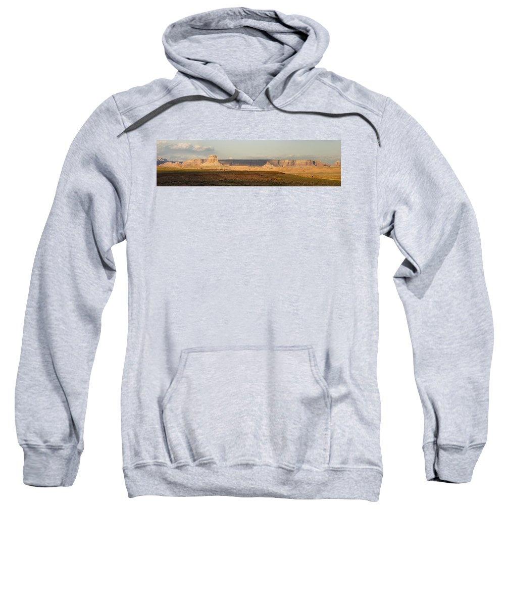 Luxury Sweatshirt featuring the photograph Tower Butte Panorama by Gene Norris