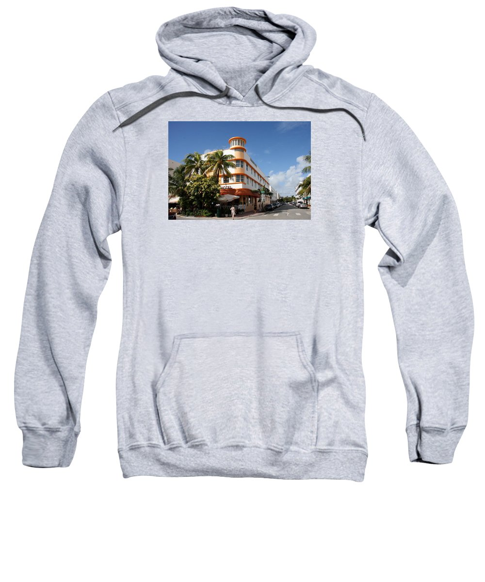 Hotel Sweatshirt featuring the photograph Towers Hotel - Miami by Christiane Schulze Art And Photography