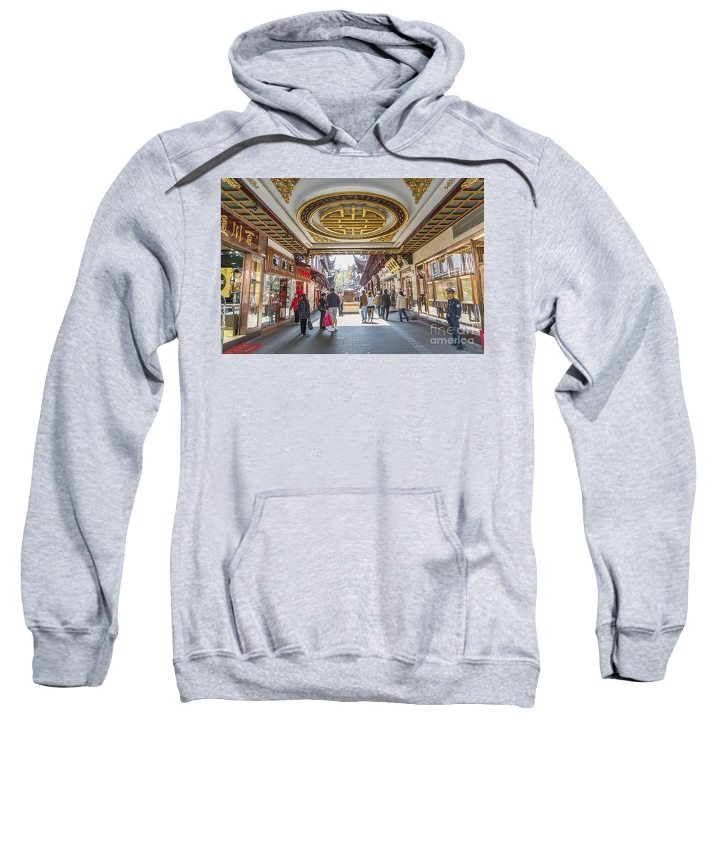 Architecture Sweatshirt featuring the photograph Traditional Shopping Area In Shanghai China by Jacek Malipan