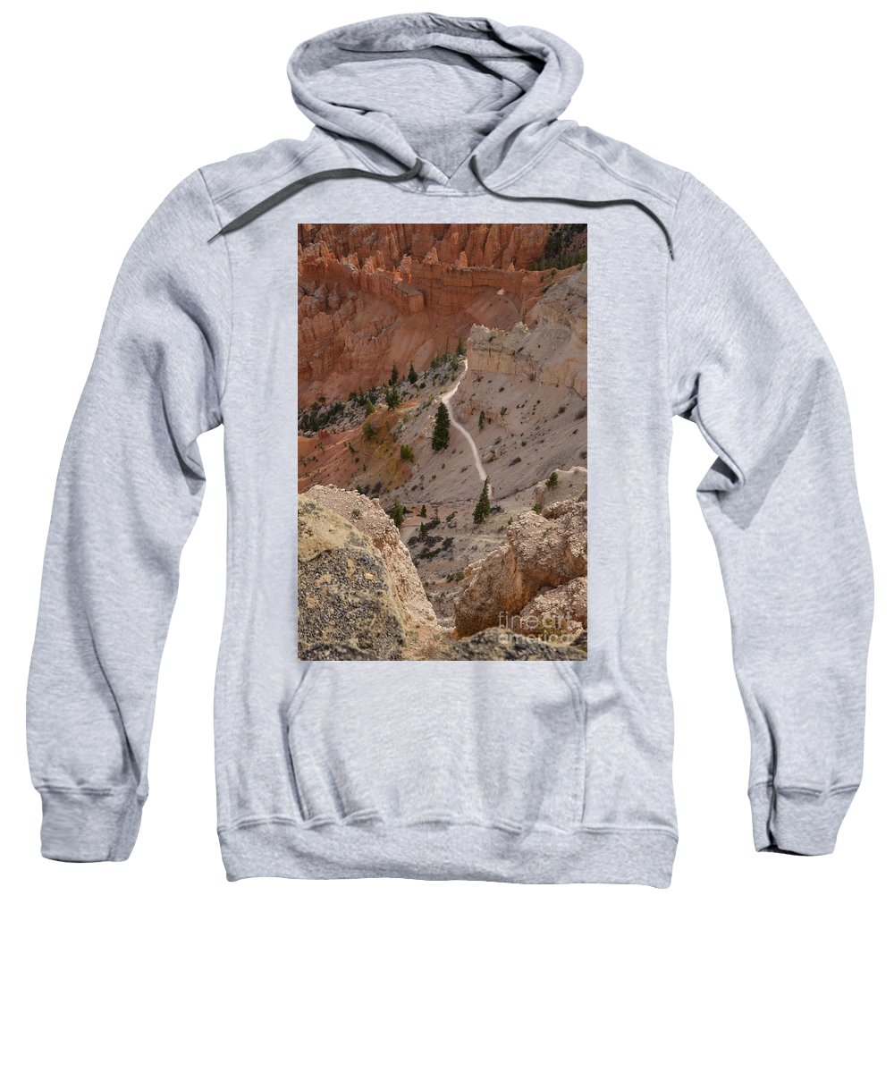 Brown Sweatshirt featuring the photograph Trail Into The Past by Rich Priest