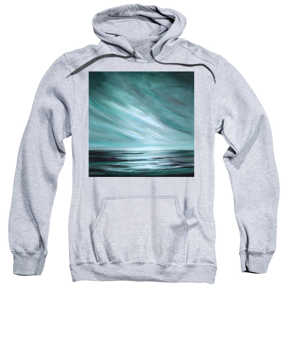 Sunset Sweatshirt featuring the painting Tranquility Sunset by Gina De Gorna
