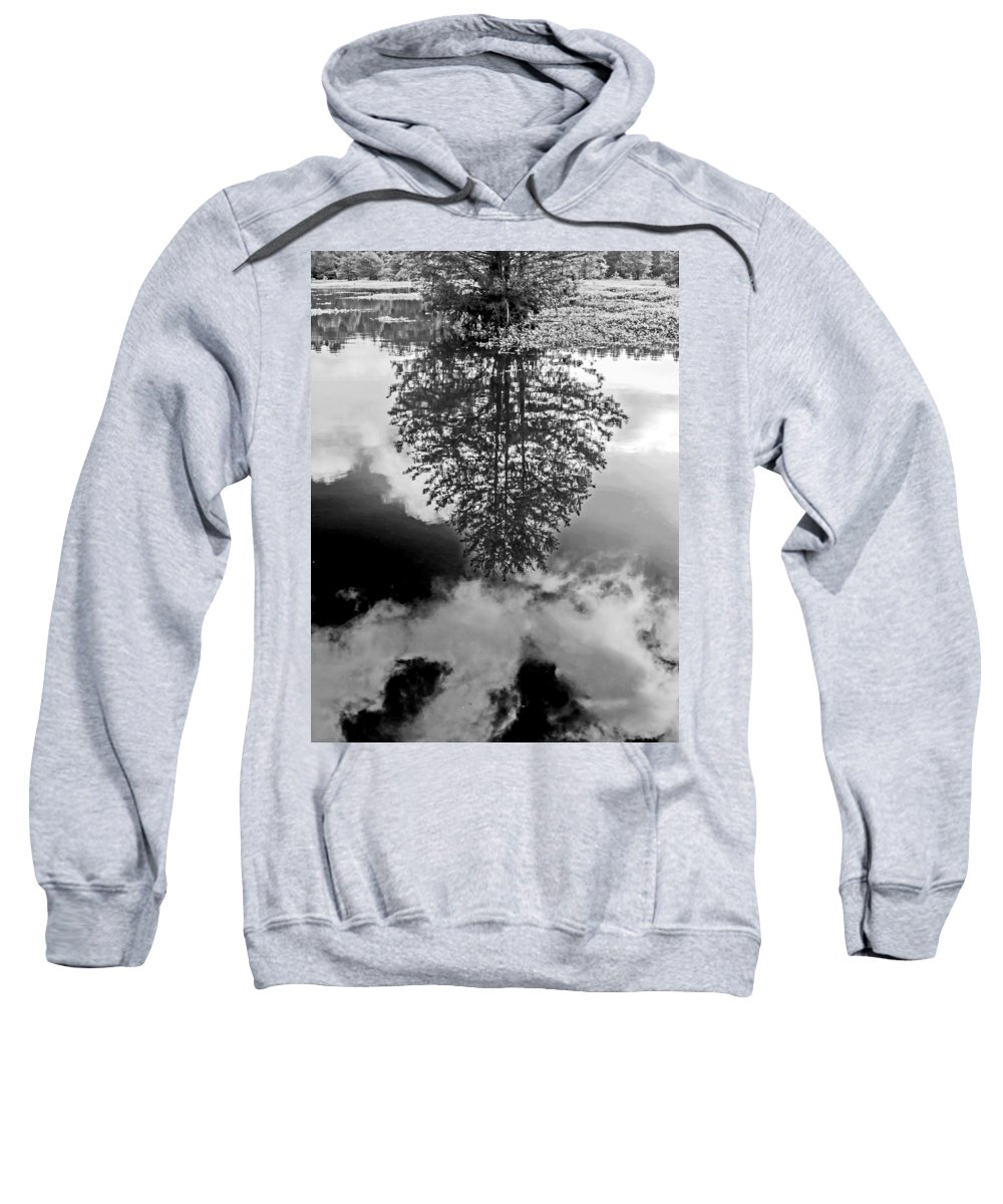 Vernon Lake Sweatshirt featuring the photograph Tree Reflected by Ken Frischkorn
