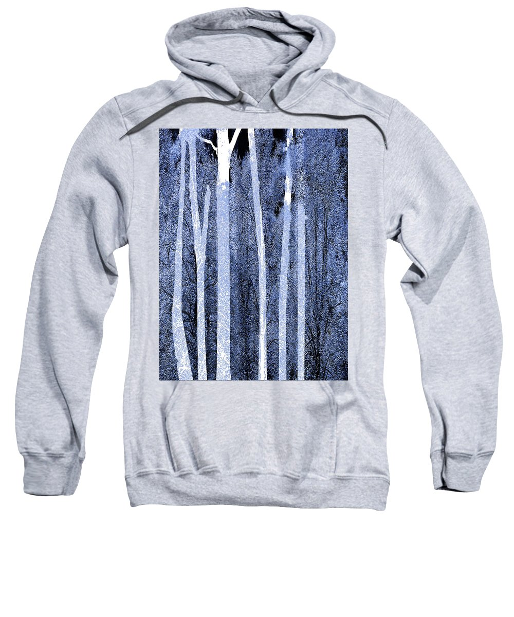 Color Sweatshirt featuring the painting Trees Vertical by Tony Rubino