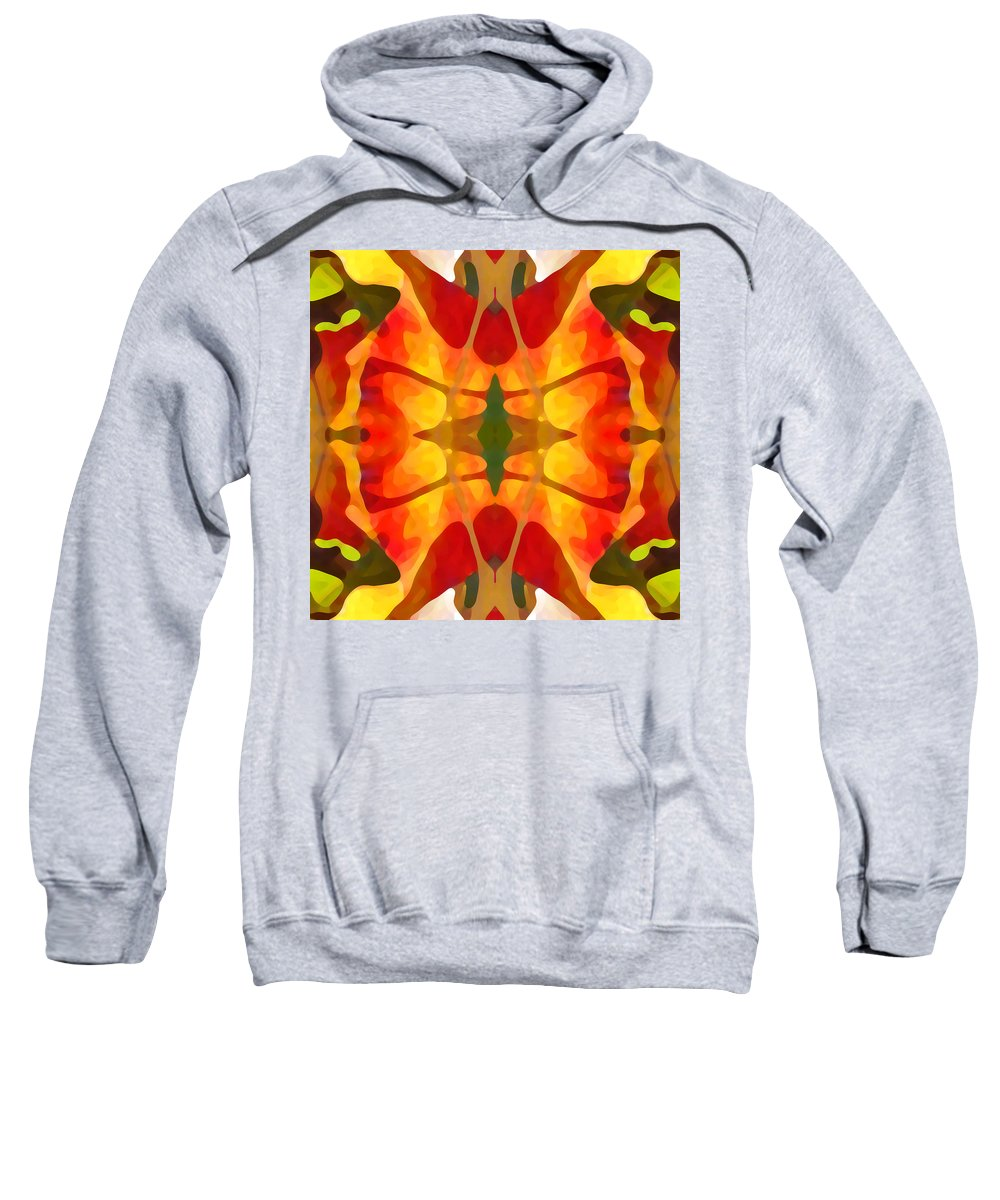 Abstract Sweatshirt featuring the painting Tropical Leaf Pattern5 by Amy Vangsgard