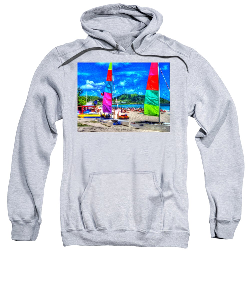 Sailboats Sweatshirt featuring the photograph Tropical Sails by Debbi Granruth