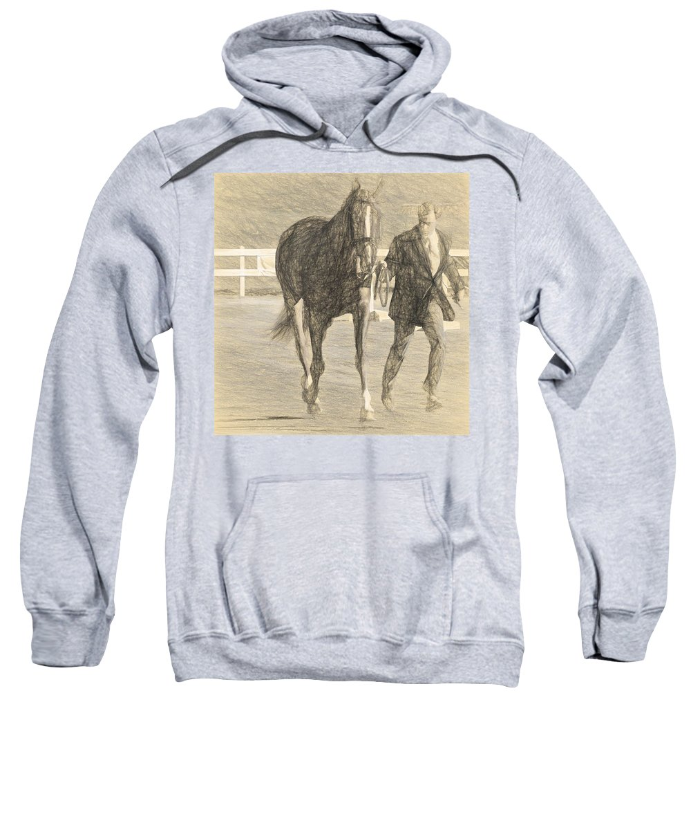 Horse Show Sweatshirt featuring the photograph Trot Out Drawn by Alice Gipson