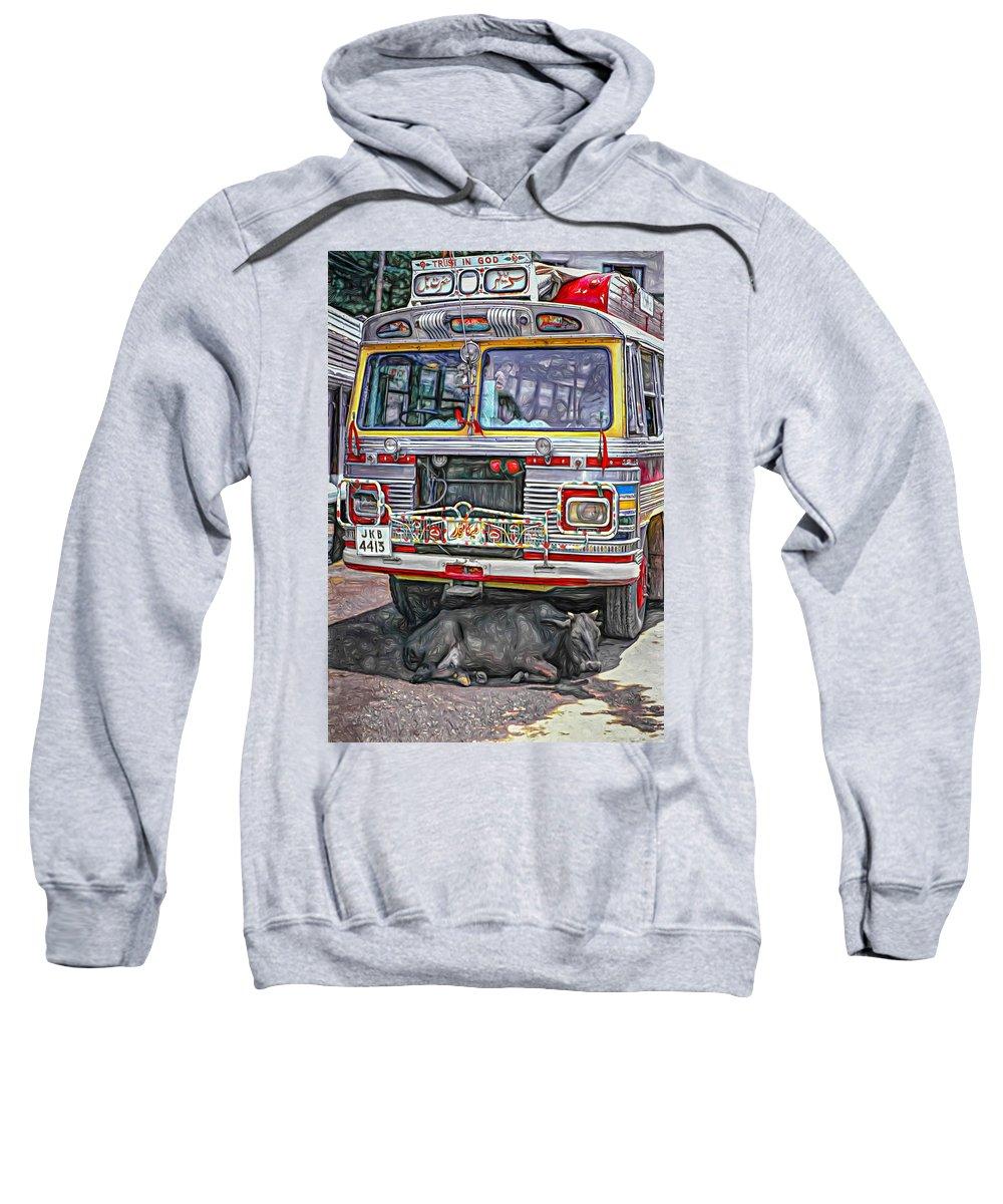 India Sweatshirt featuring the photograph Trust In God Paint by Steve Harrington