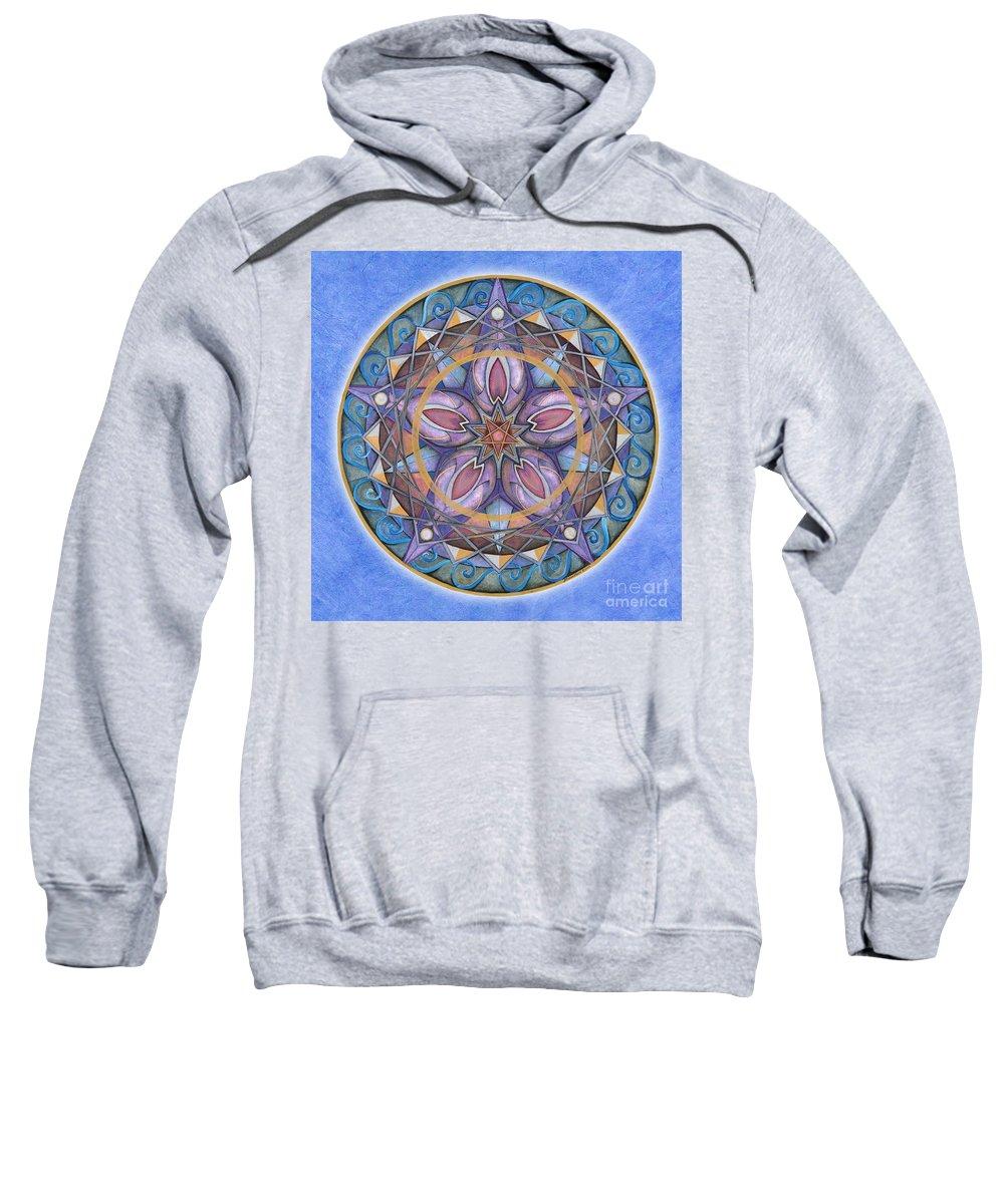 Mandala Art Sweatshirt featuring the painting Truth Mandala by Jo Thomas Blaine