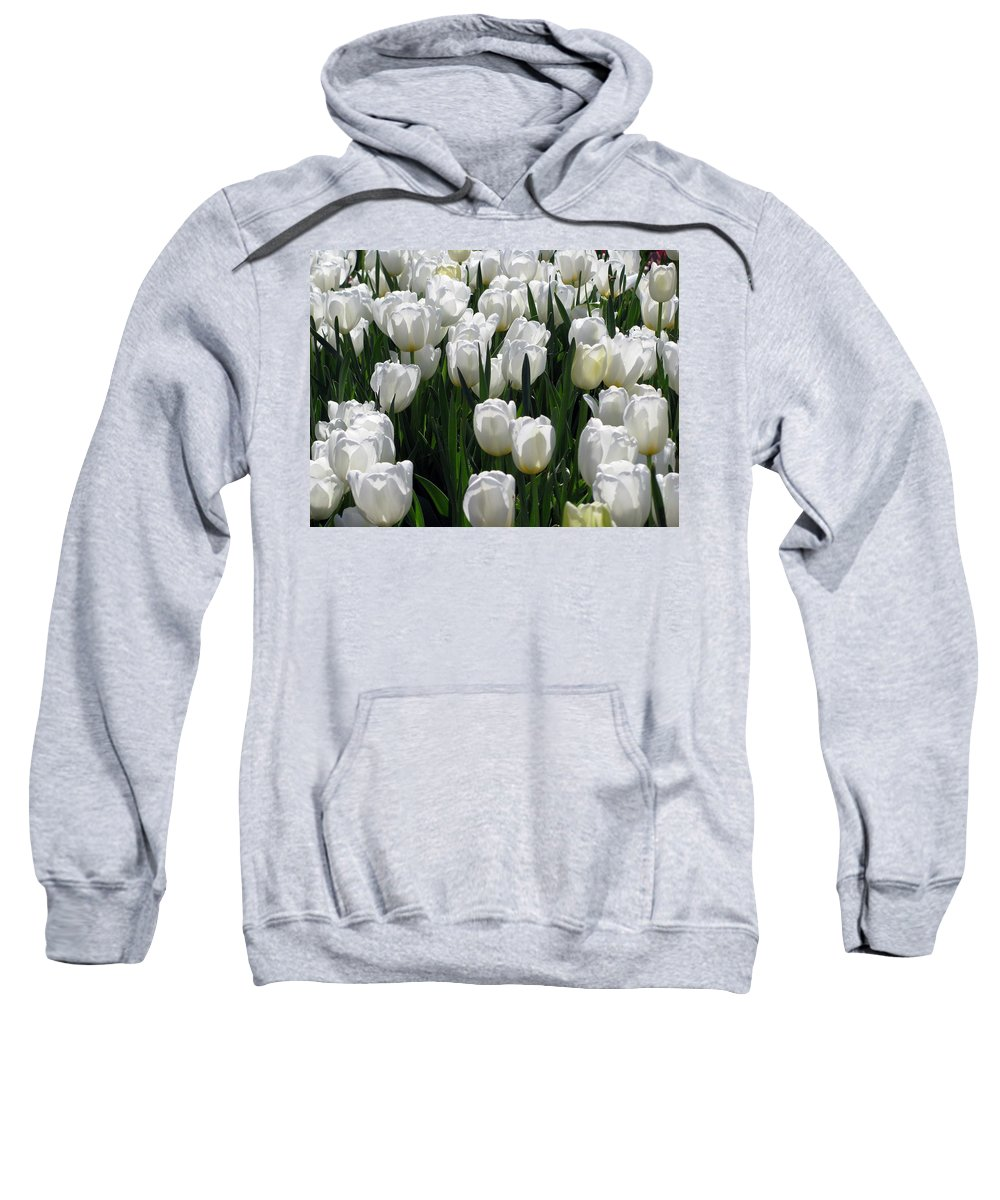 Tulip Sweatshirt featuring the photograph Tulips - Field With Love 19 by Pamela Critchlow