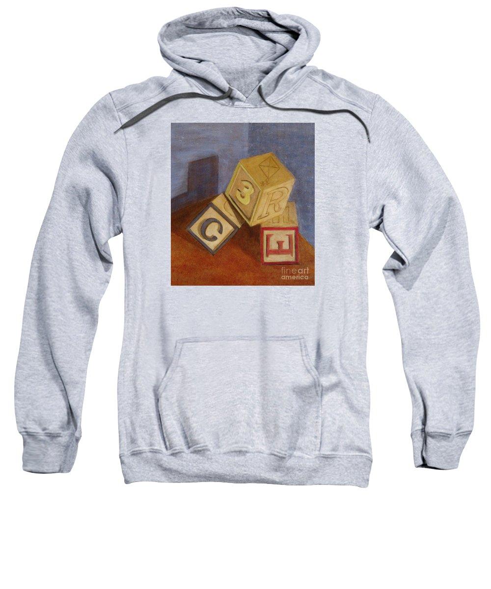 Blocks Sweatshirt featuring the painting Tumblin' by Marilyn Healey