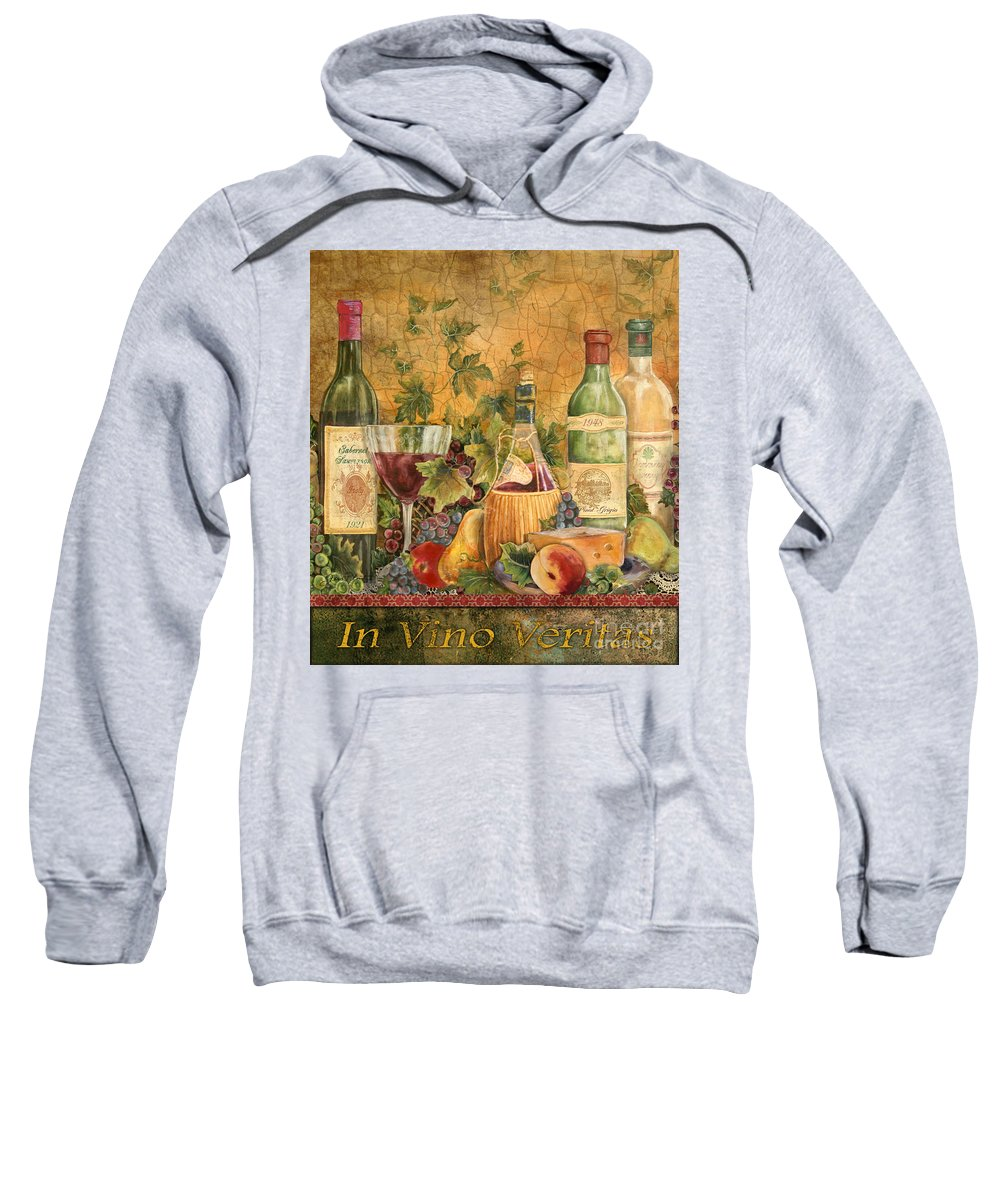 Original Sweatshirt featuring the painting Tuscan In Vino Veritas by Jean Plout