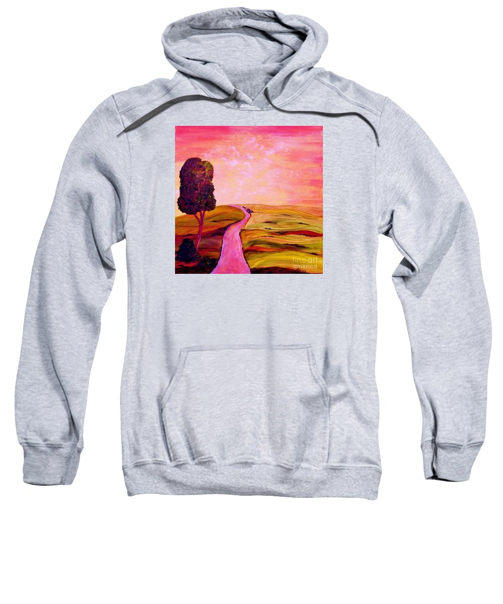 Tuscany Sweatshirt featuring the painting Tuscan Skies ... An Impressionist View by Eloise Schneider Mote