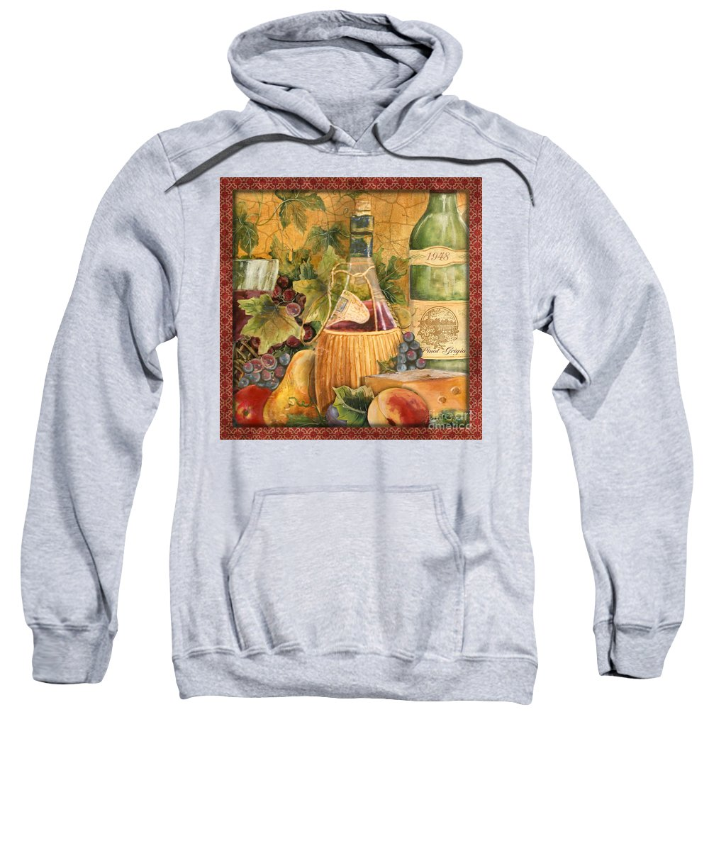 Original Sweatshirt featuring the painting Tuscan Wine-c by Jean Plout