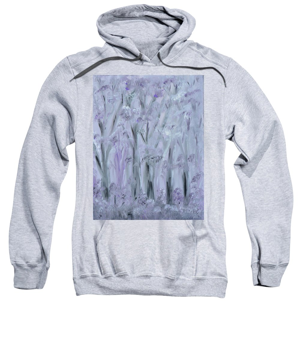 Forest Sweatshirt featuring the painting Twilight Forest by Donna Blackhall
