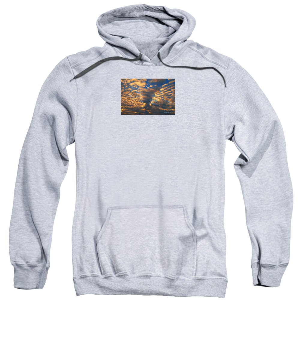 Clouds Sweatshirt featuring the photograph Twisted Sunset by Janice Westerberg