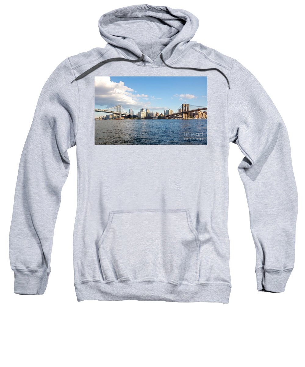 America Sweatshirt featuring the photograph Two Bridges by Jannis Werner
