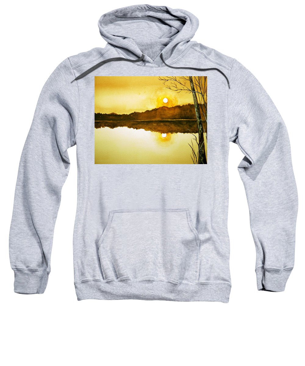 Watercolor Sweatshirt featuring the painting Two Suns by Brenda Owen