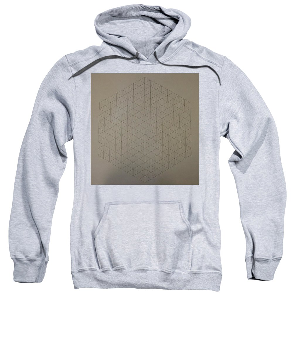 Math Sweatshirt featuring the drawing Two To The Power Of Nine Or Eight Cubed by Jason Padgett