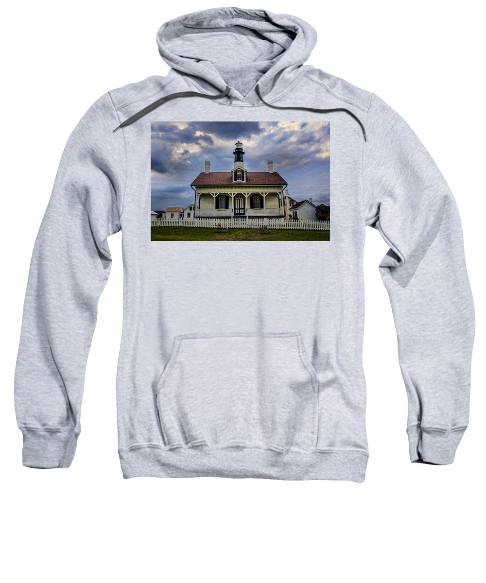 Tybee Island Sweatshirt featuring the photograph tybee Light Straight Up by Diana Powell