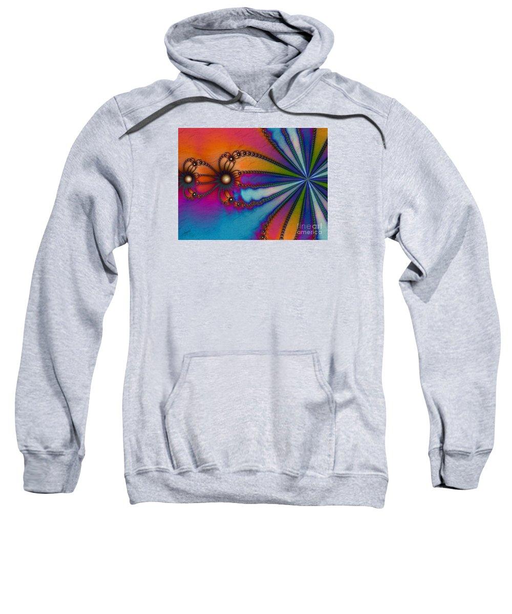 Tye Dye Sweatshirt featuring the digital art Tye Dye by Kimberly Hansen