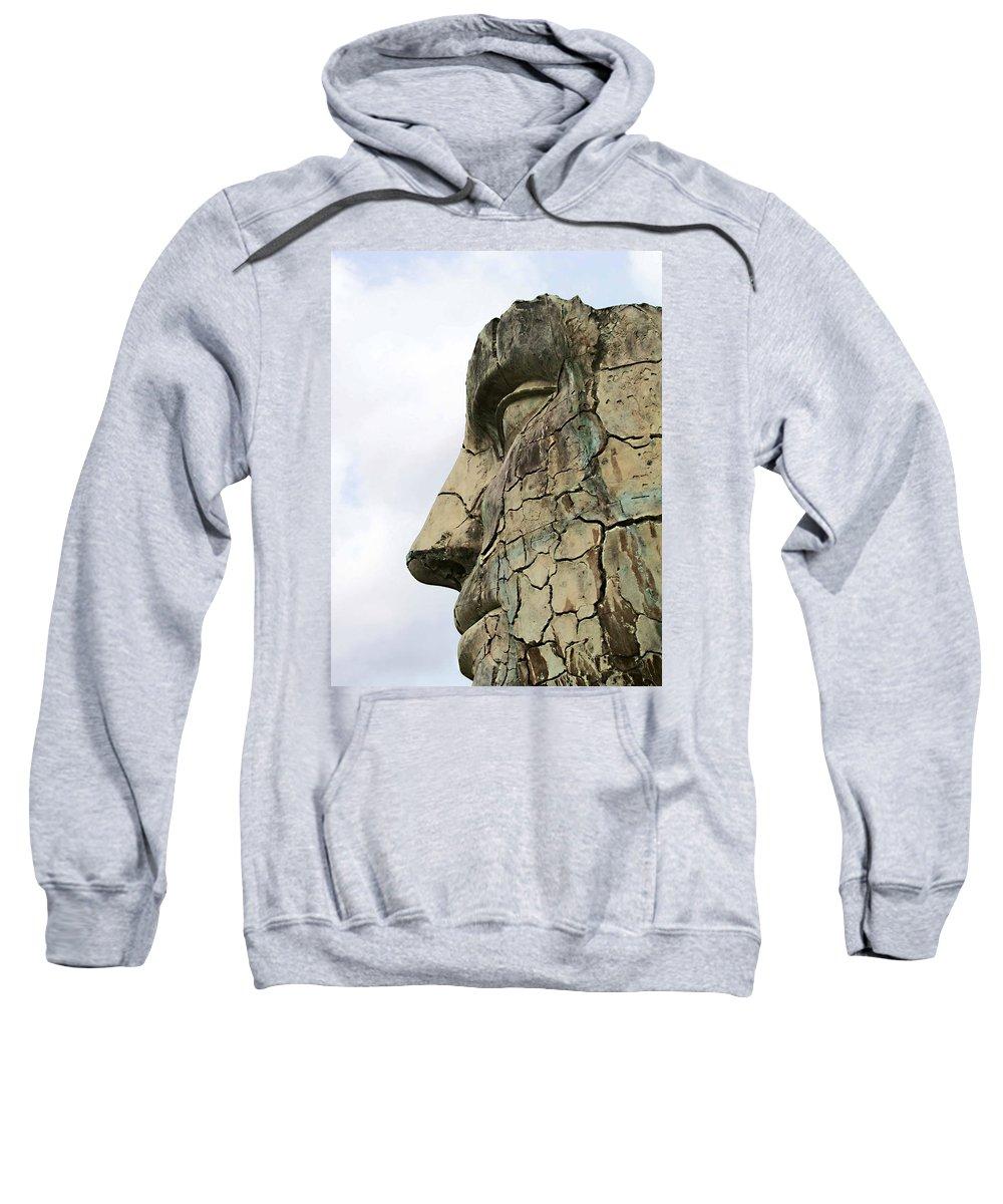 Tyndareus Cracked Sweatshirt featuring the photograph Tyndareus Cracked 1 by Ellen Henneke