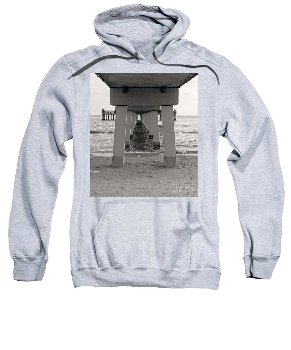 Boardwalk Sweatshirt featuring the photograph Under The Boardwalk by Edward Fielding