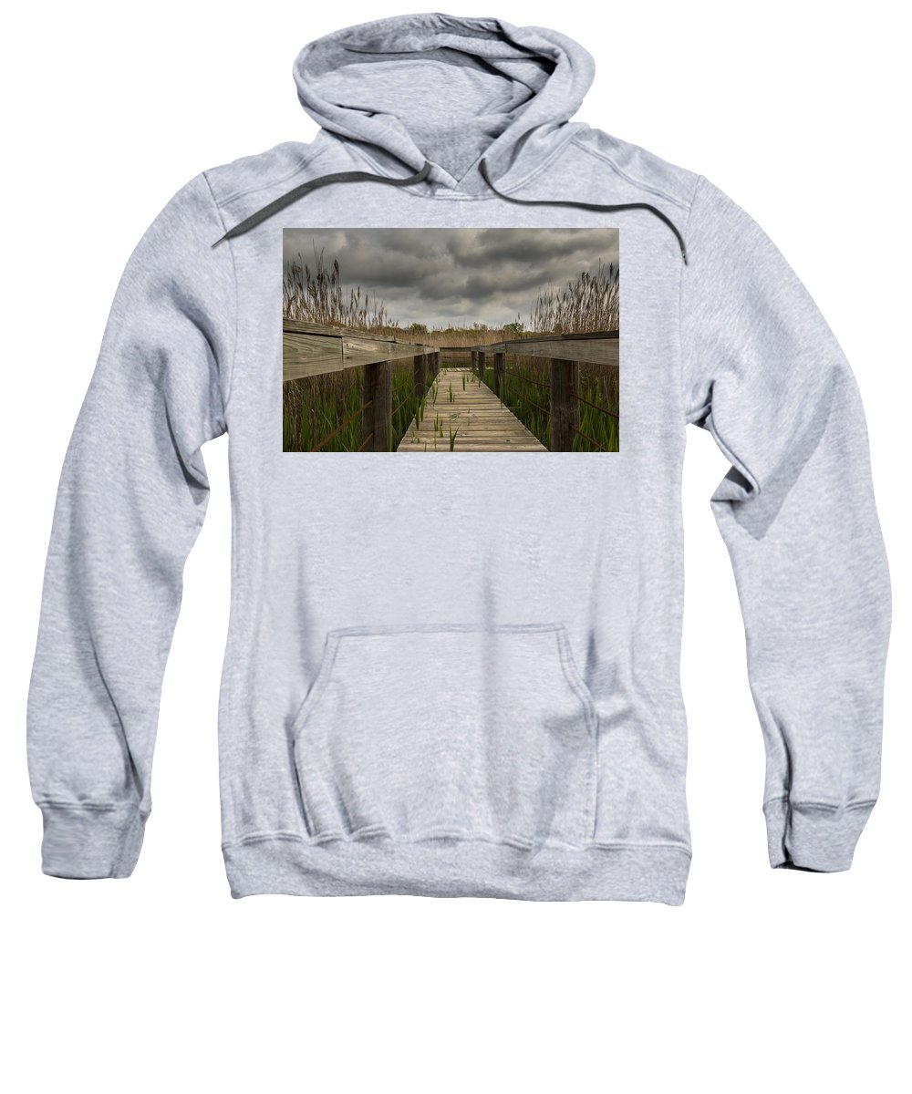 Nature Sweatshirt featuring the photograph Under The Boardwalk by Jonathan Davison