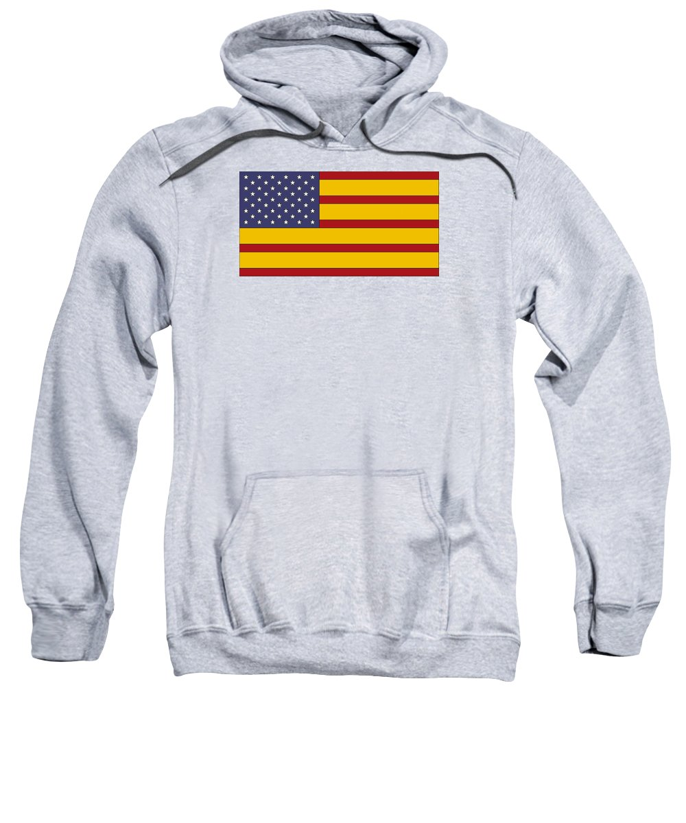 Us Sweatshirt featuring the digital art United States Of Iberia by David Soleno