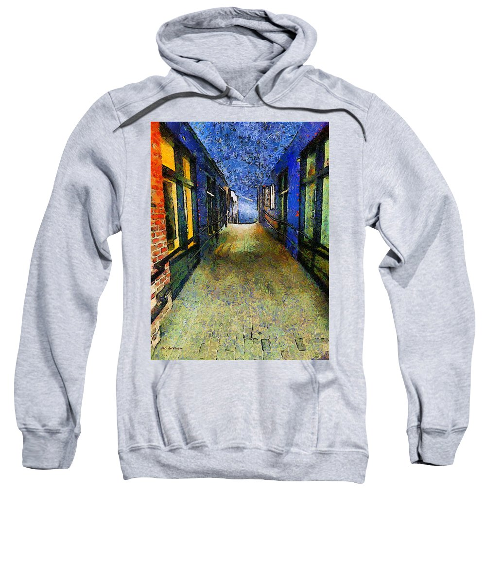 Alley Sweatshirt featuring the painting Universe Alley by RC DeWinter