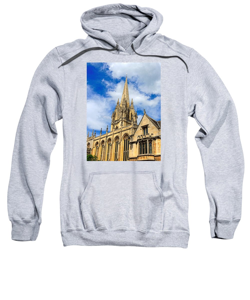 Anglo Saxon Sweatshirt featuring the photograph University Church Of St Mary The Virgin by Marilyn Holkham