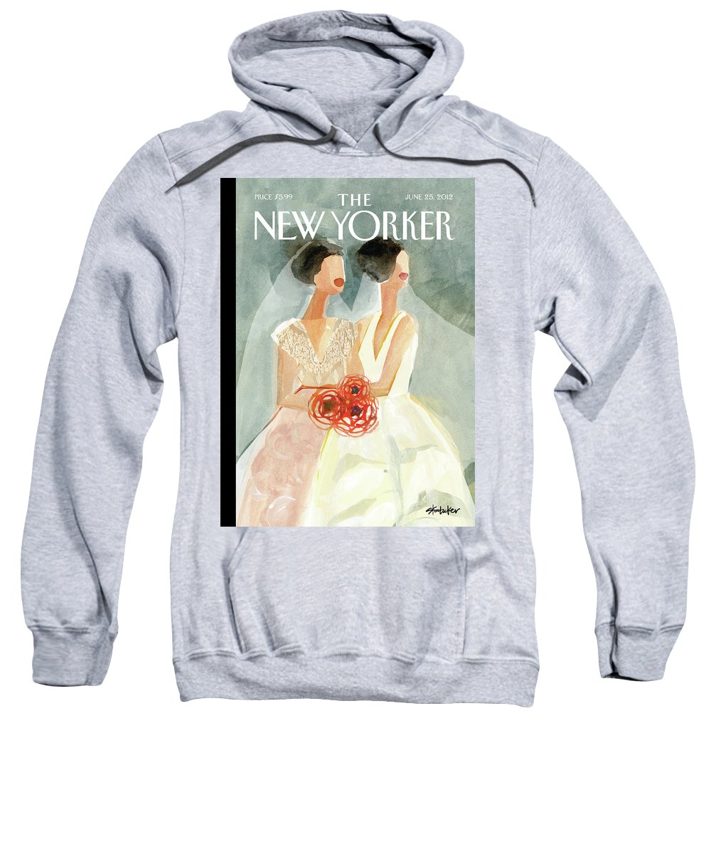 June Brides Sweatshirt featuring the painting June Brides by Gayle Kabaker