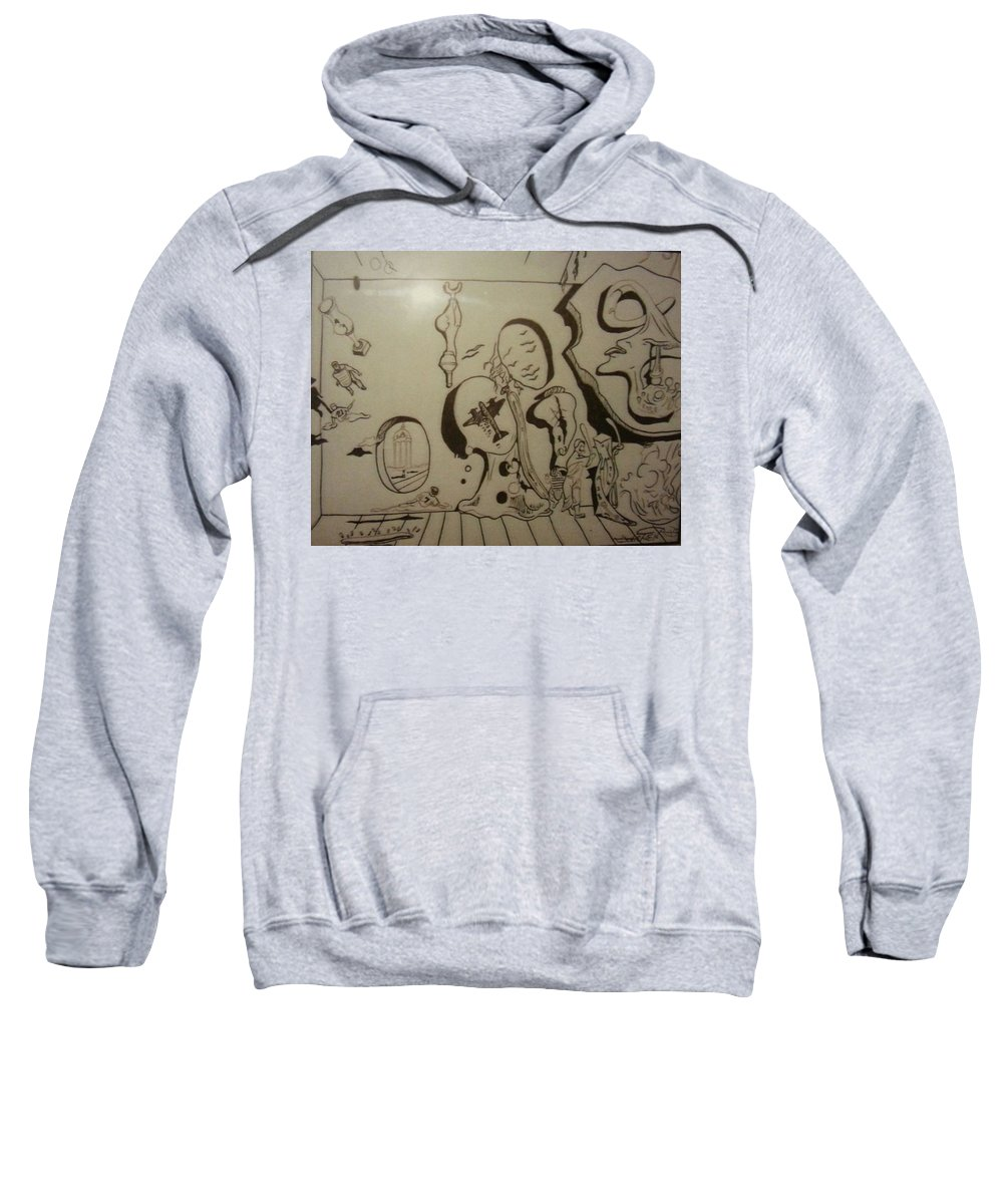 Sweatshirt featuring the drawing Untitled by Jude Darrien