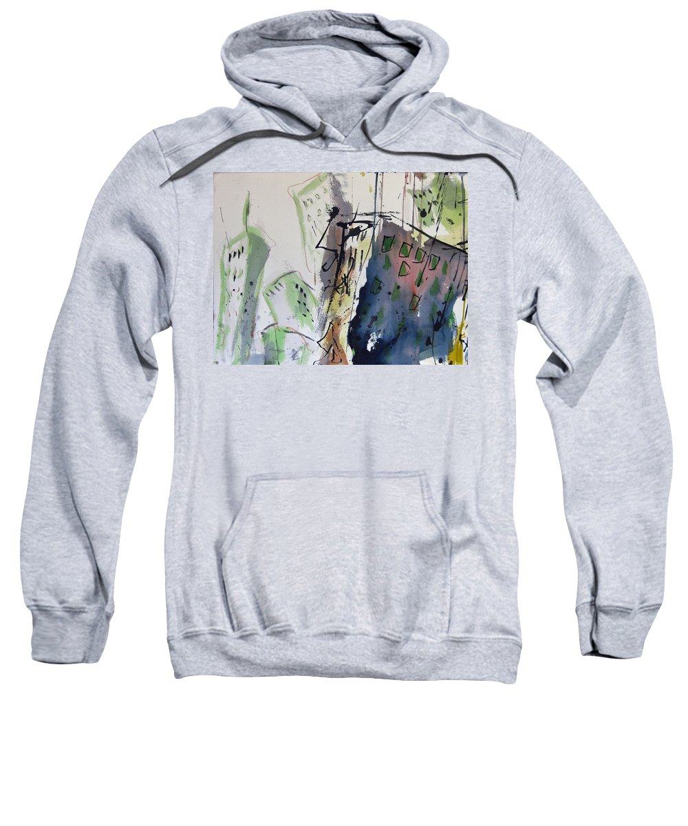 City Sweatshirt featuring the painting Uptown by Robert Joyner