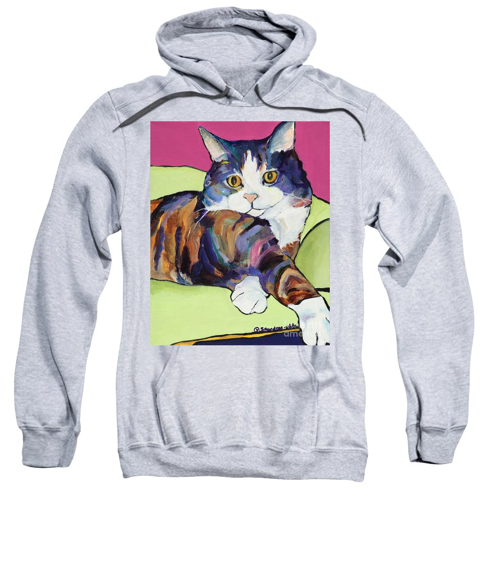 Pat Saunders-white Canvas Prints Sweatshirt featuring the painting Ursula by Pat Saunders-White