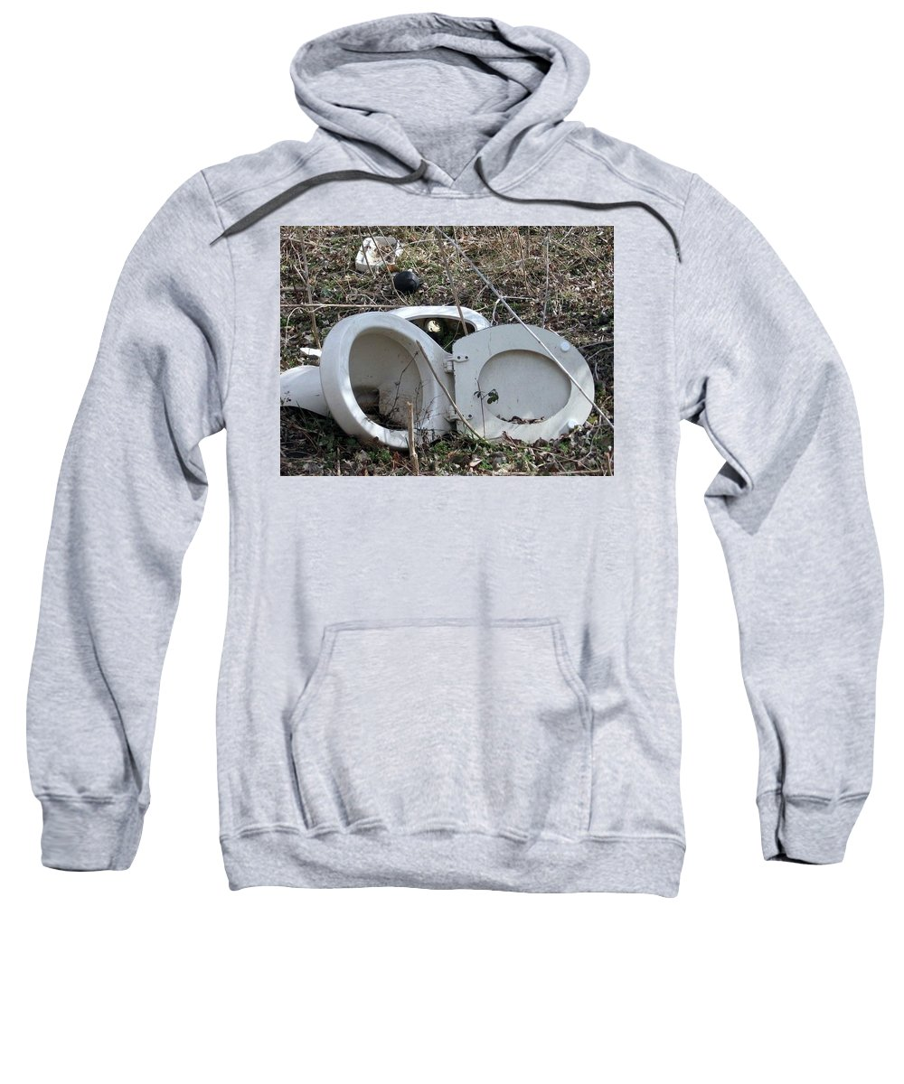 Sweatshirt featuring the photograph Used Up by Amy Hosp