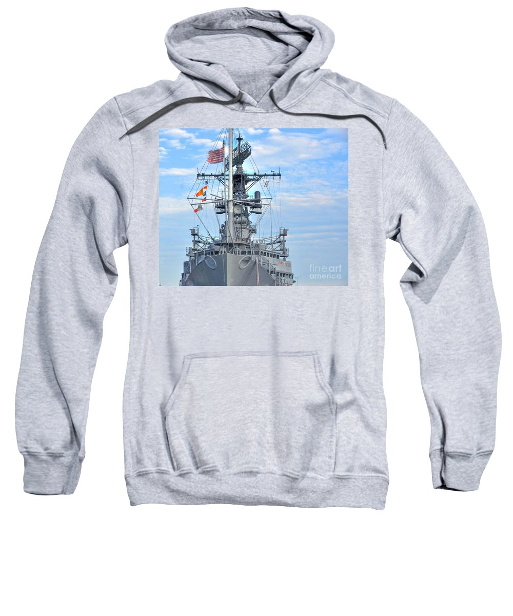 Cruiser Sweatshirt featuring the photograph U.s.s. Little Rock by Kathleen Struckle