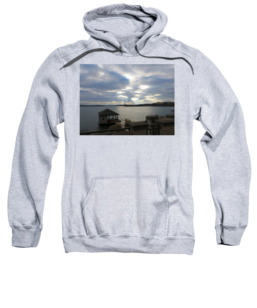 Virginia Sweatshirt featuring the photograph Va March Sunset by Jean Macaluso