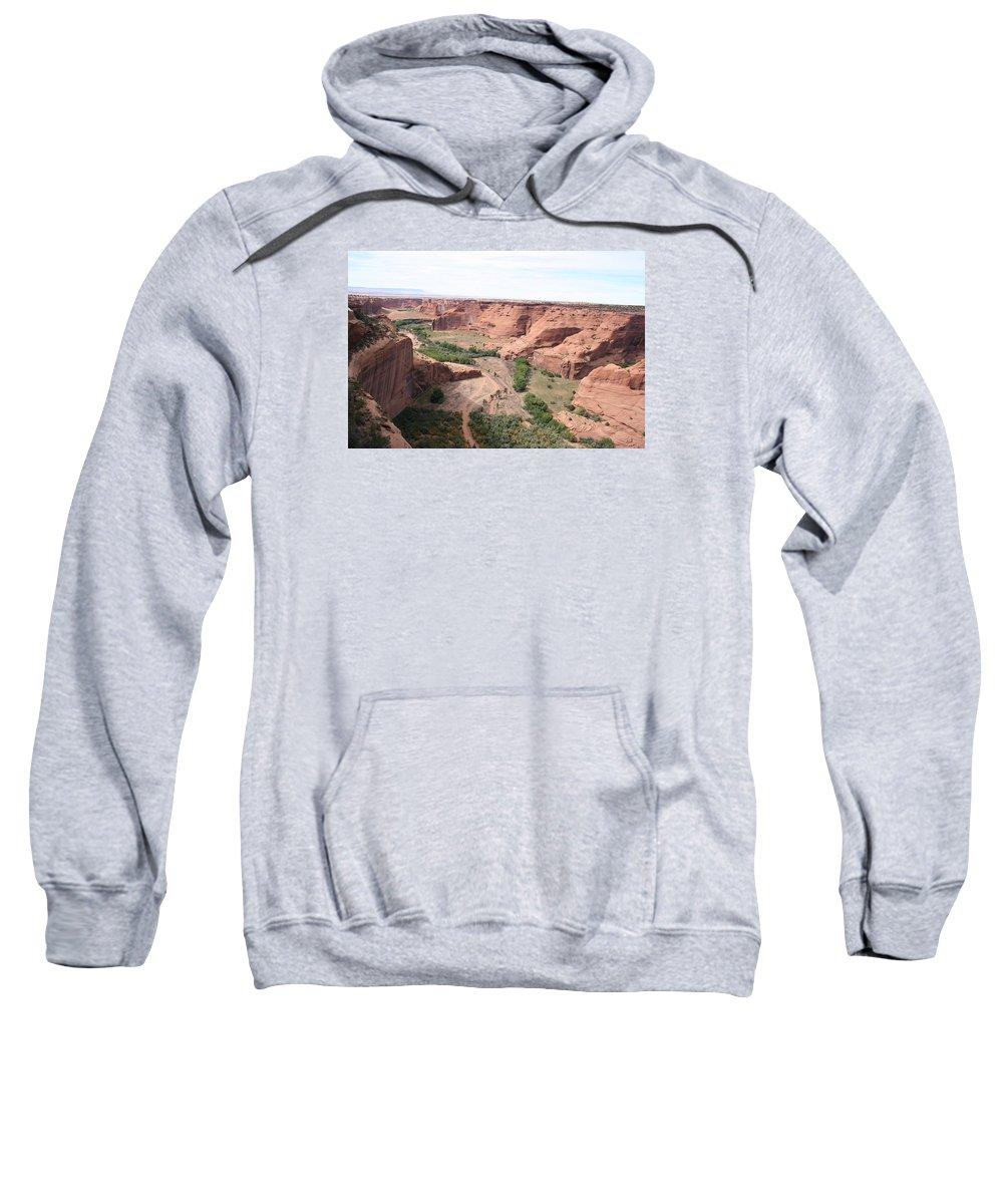 Valley Sweatshirt featuring the photograph Canyon De Chelly Valley View  by Christiane Schulze Art And Photography