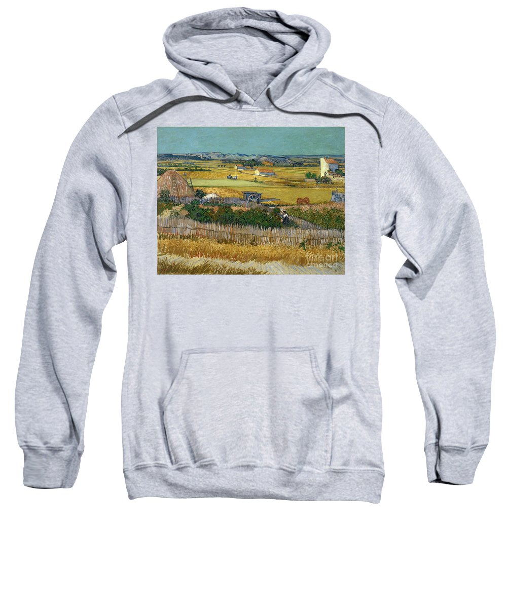 1888 Sweatshirt featuring the painting Van Gogh Wheatfield 1888 by Granger