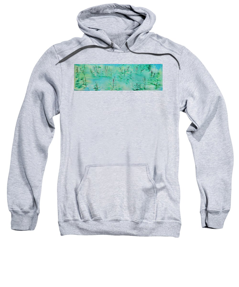 Outdoors Sweatshirt featuring the painting Vancouver Island by Paulette B Wright